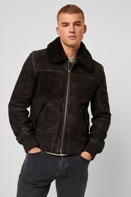 Washed Leather Sheepskin Jacket