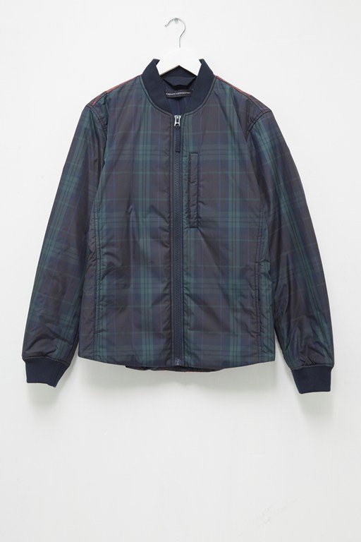 check bomber jacket
