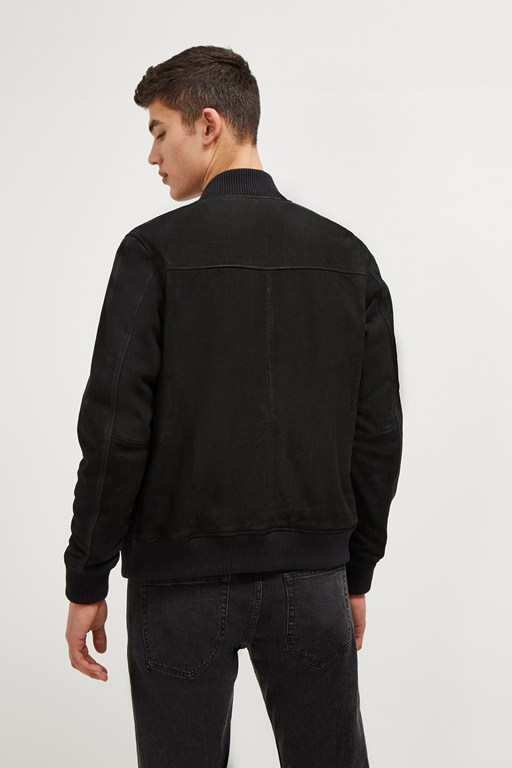 Complete the Look Nubuck Leather Bomber Jacket