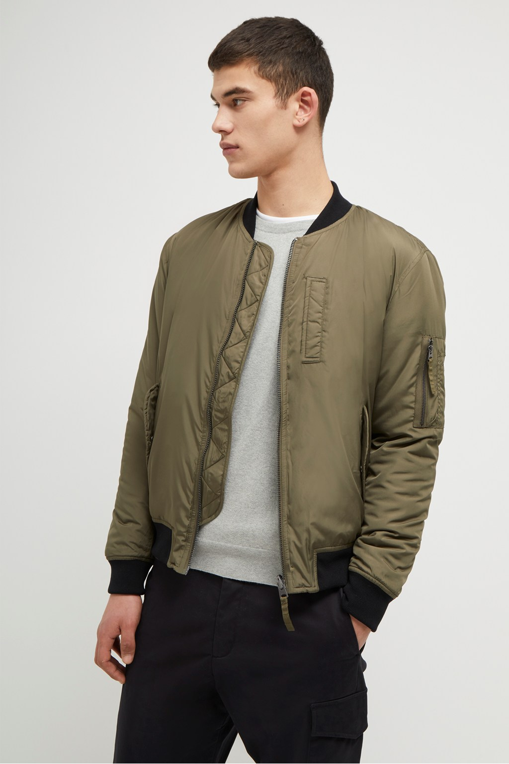 b4fb138c1d8e99 Parachute Contrast Reversible Bomber Jacket | Collections | French ...