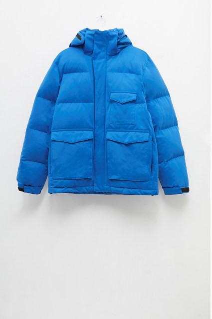 Micro Cotton Drill Puffer Jacket