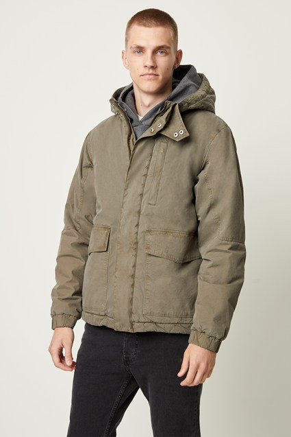 Peached Cotton Parka