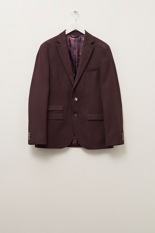 malbec flannel suit jacket
