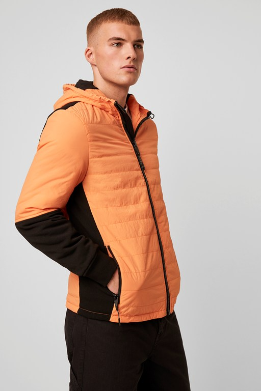 twill quilted jacket