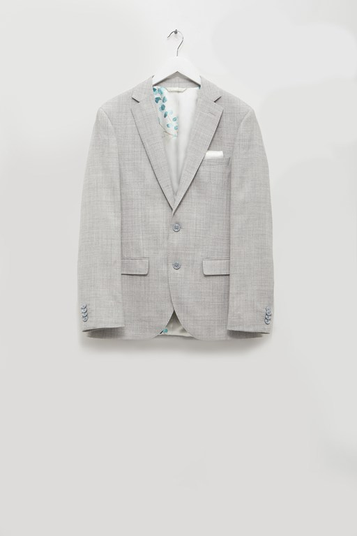 light grey flannel suit jacket