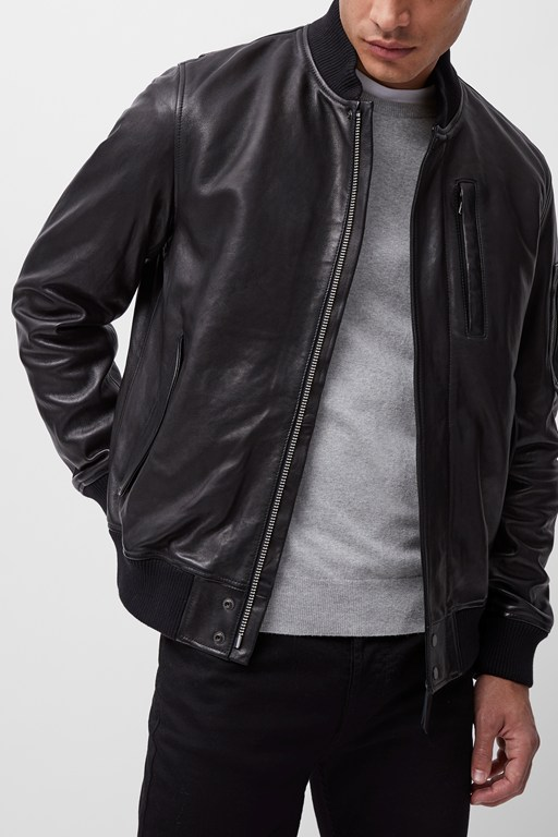 conroy leather bomber jacket