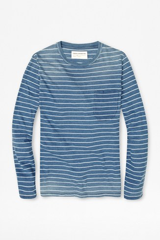 Denim Striped Long Sleeved T-Shirt