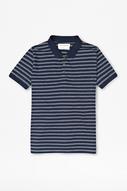 Denim Striped Polo Shirt