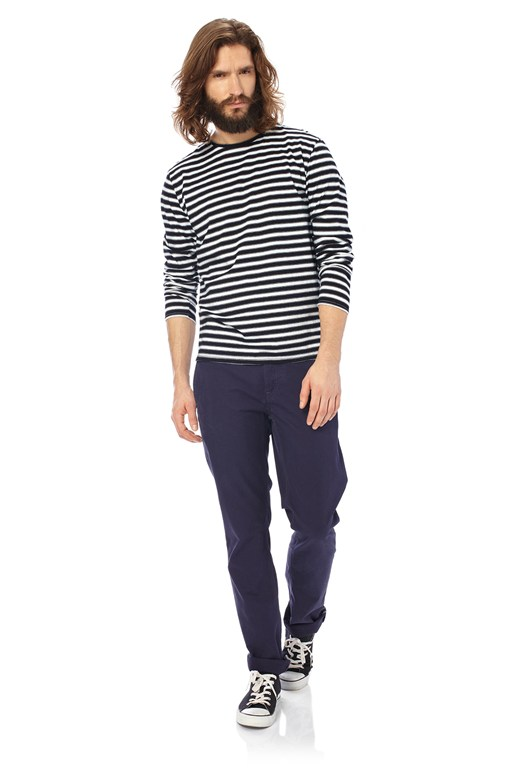 Indigo Big Stripes T-Shirt
