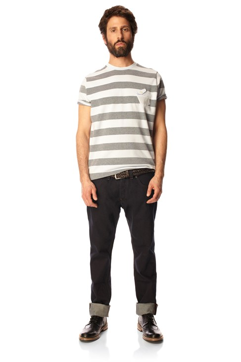 Swimmer Stripe Jersey Tee