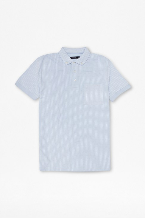 Circle Button-Down Polo Shirt