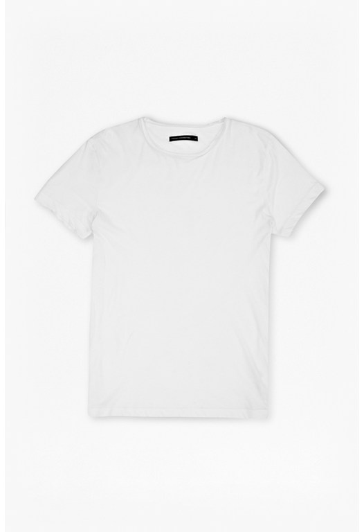 Rolled Edge Plain T-Shirt