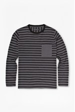 Looks Great With Double Stripe Long-Sleeved T-Shirt