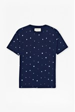 Looks Great With Indigo Jersey Polka Dot T-Shirt