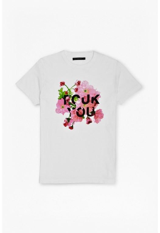 Floral Fcuk You T-Shirt