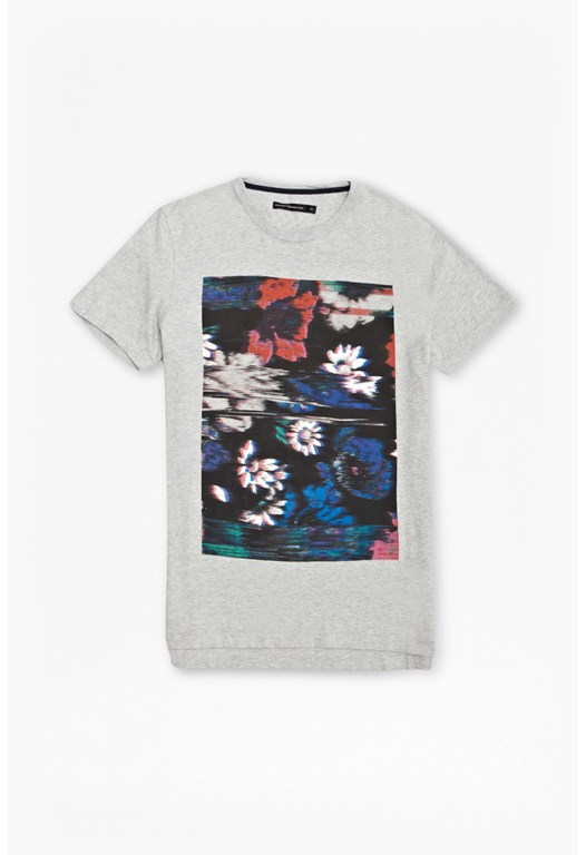 Flower Glitch Graphic T-Shirt