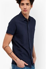Looks Great With Central Crepe Short Sleeve Shirt