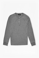 Looks Great With Melange Marlon Henley Long Sleeved Shirt