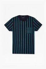 Looks Great With Contrast Stripe Pocket T-Shirt