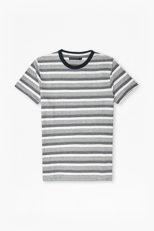 Coal Jacquard Stripe T-Shirt