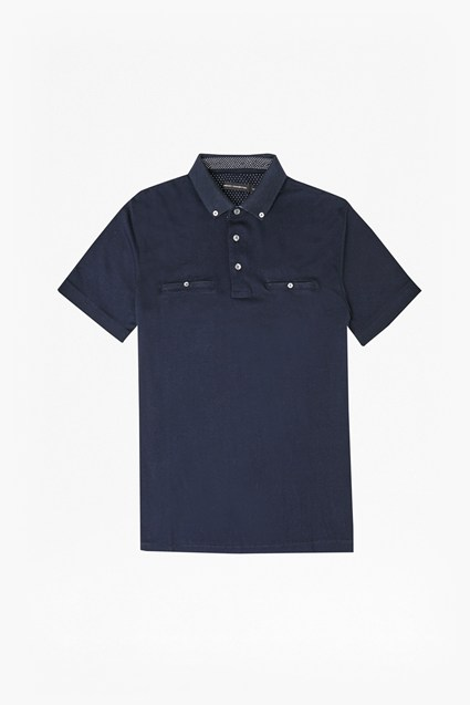 Winter Premium Knit Collar Polo Shirt