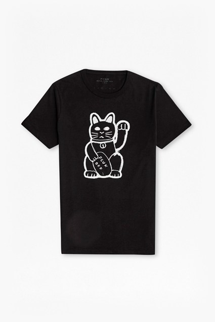 Fortune Cat Graphic T-Shirt