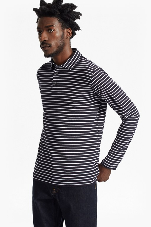 Central Crepe Striped Long Sleeve Top