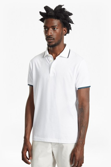 Rubber Printed Jersey Polo Shirt