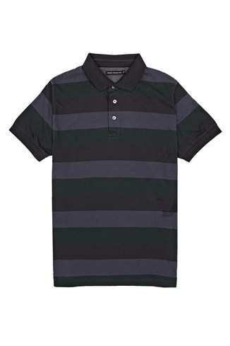 Mouse Pad Stripe Cotton Polo Shirt