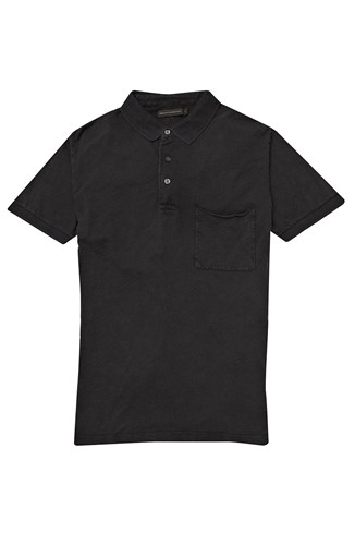 Colour Washed Slub Polo Shirt