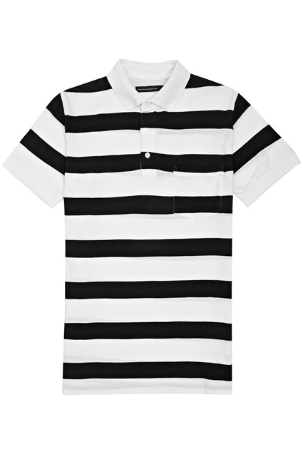 Classic Striped Cotton Polo Shirt