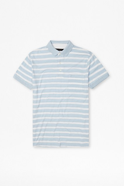 Slub Stripe Polo Shirt