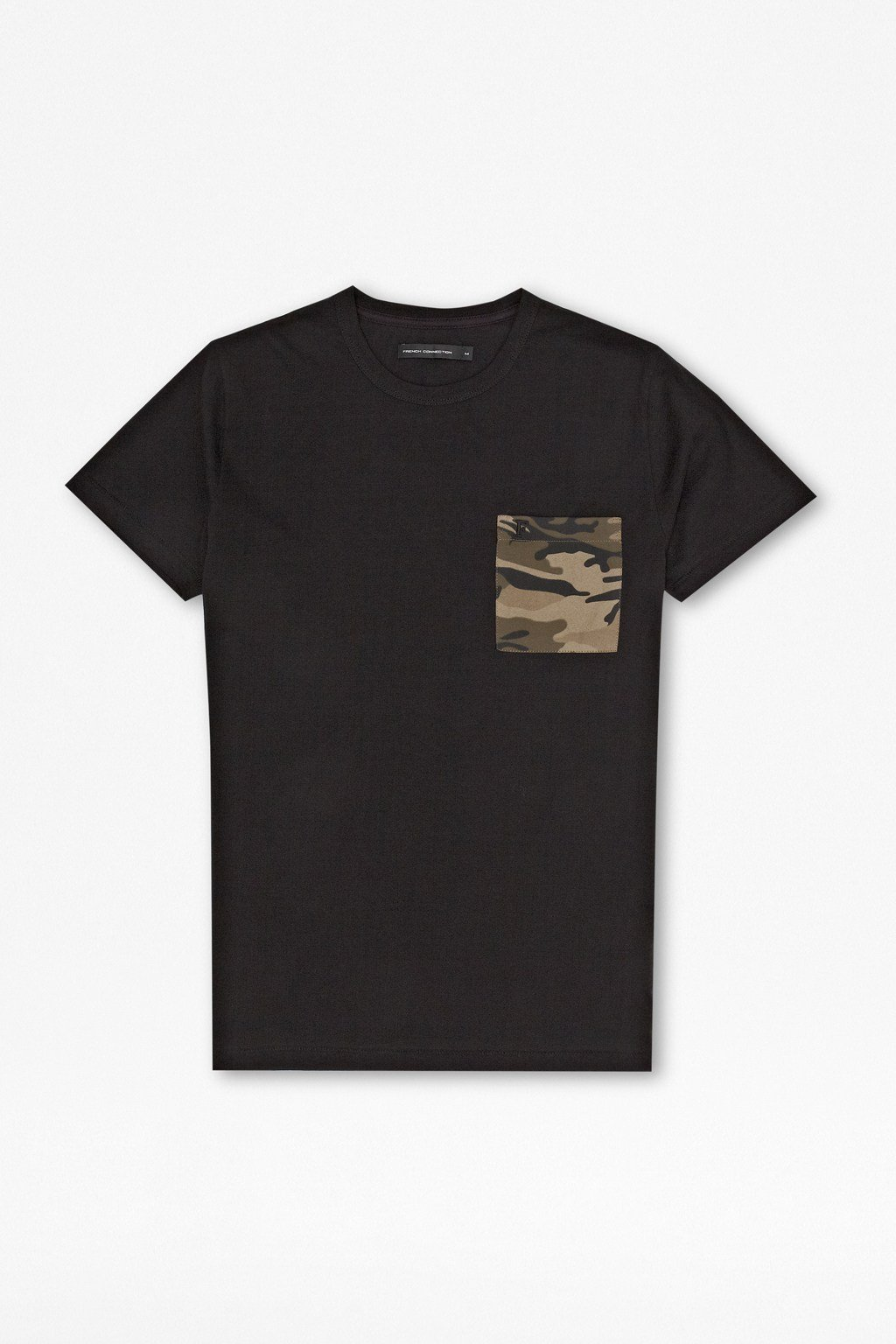 Military camo print t shirt mens shorts french connection for Camo print t shirt