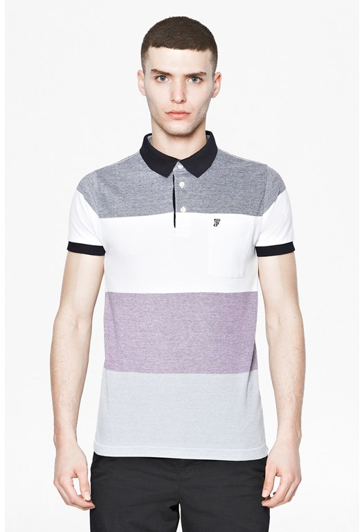 Oxford Stripe Polo Shirt