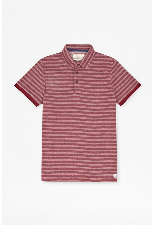 Jaquard Stripe Polo Shirt