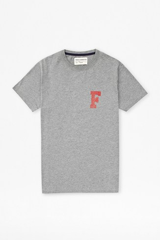 College 'F' Cotton T-Shirt
