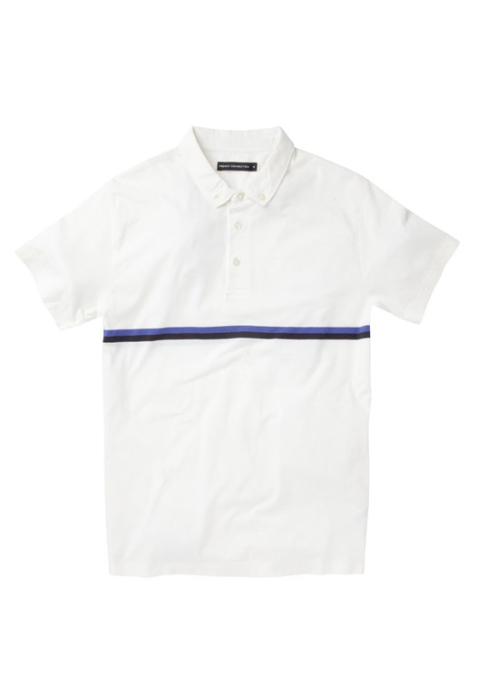 Stripe Polo Tee Grey