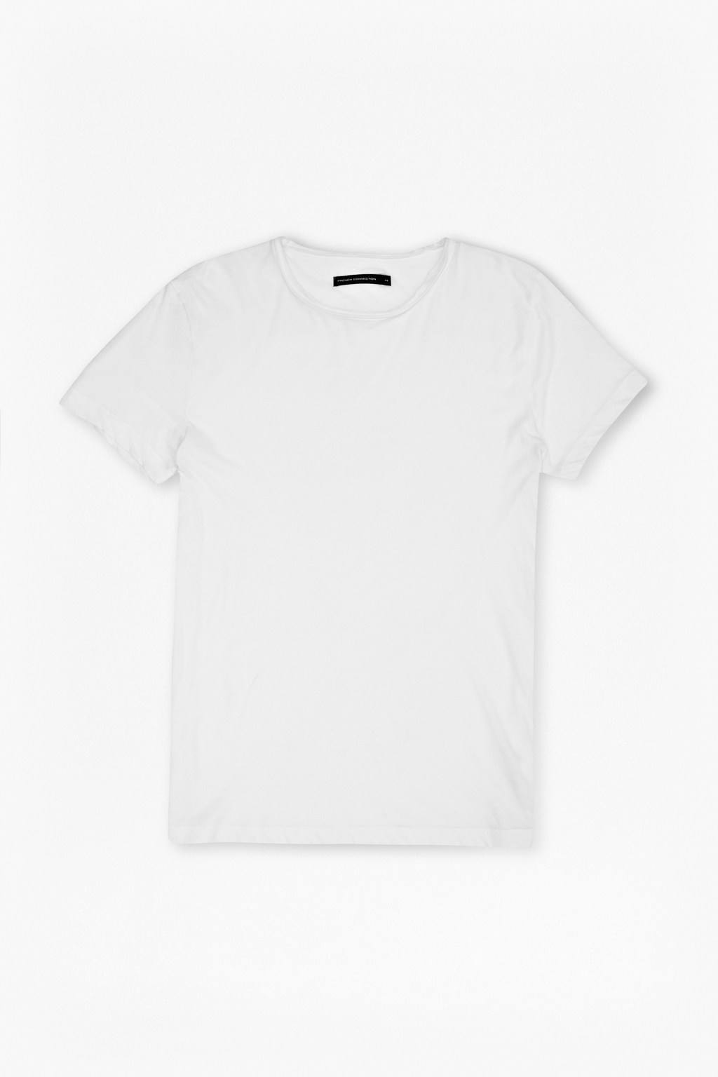 Black t shirt rolled up sleeves - Rolled Edge Plain T Shirt Loading Images