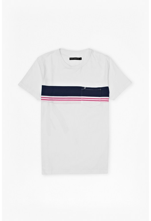 Colourful Stripe Pocket T-Shirt