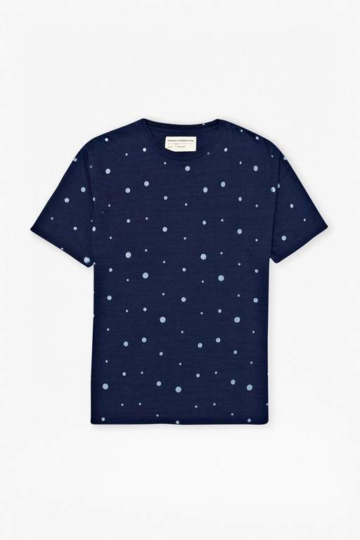 Complete the Look Indigo Jersey Polka Dot T-Shirt