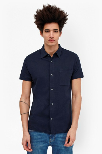 Central Crepe Short Sleeve Shirt