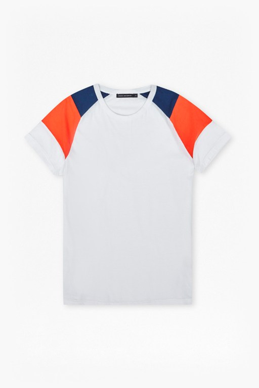 cut and panel park raglan t-shirt