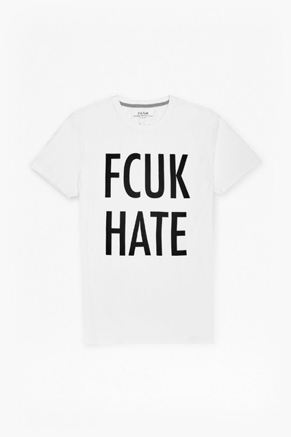 FCUK Hate Slogan T-Shirt