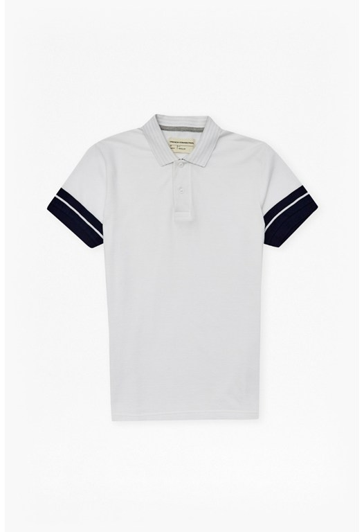 Dip Sleeve Striped Polo Shirt