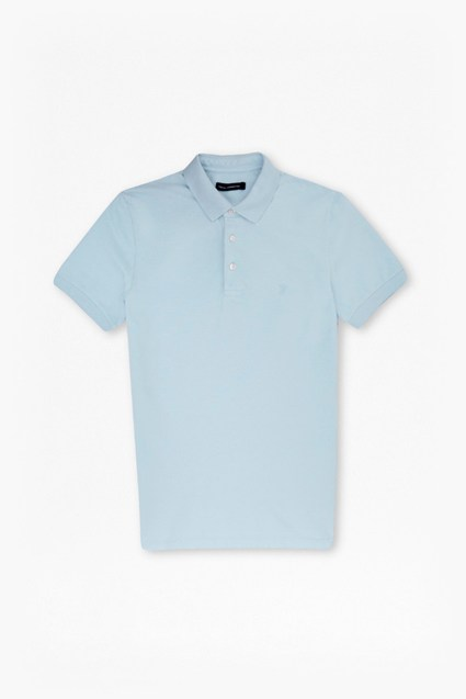 Cotton Magoo Pique Rubber Polo Shirt