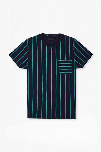 Contrast Stripe Pocket T-Shirt