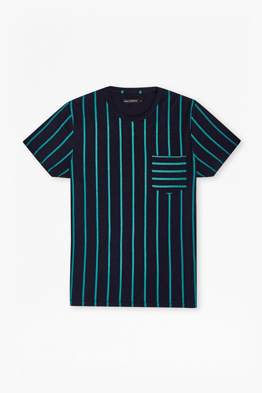 Complete the Look Contrast Stripe Pocket T-Shirt