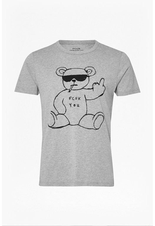 Rude Bear Graphic T-Shirt
