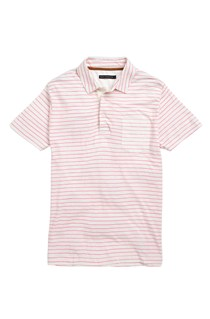 Fine Printed Striped Polo Shirt