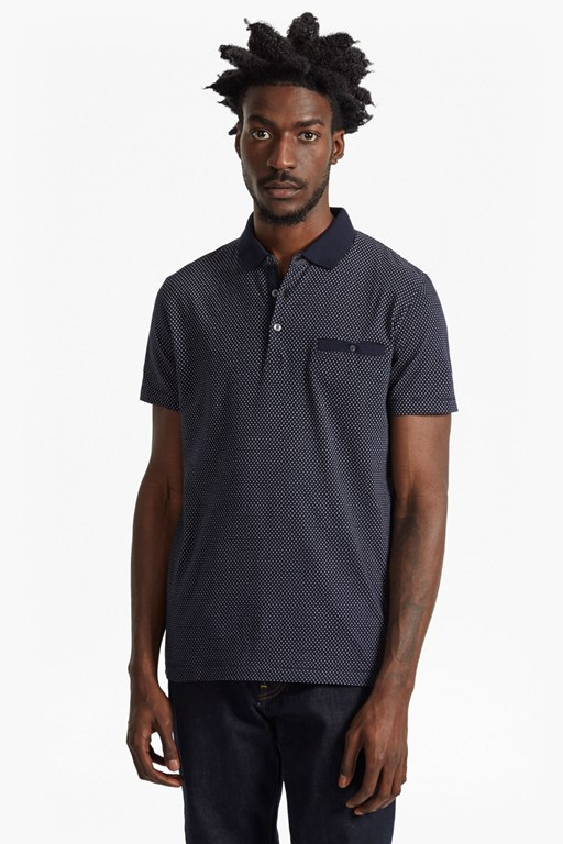 summer ditsy slim fit polo shirt